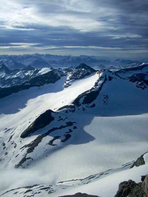 Paradiesgletscher from the summit