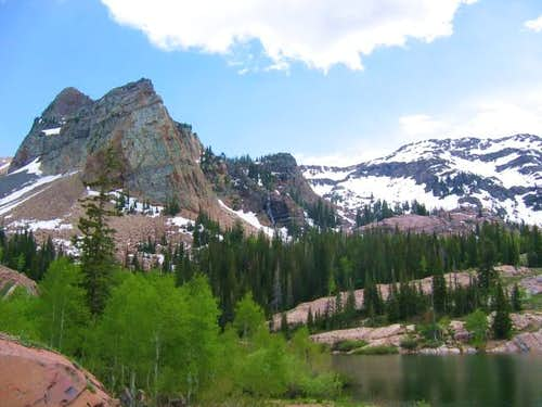 Sundial Peak above Lake...