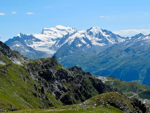 The Grand Combin seen from Les Attelas above Verbier