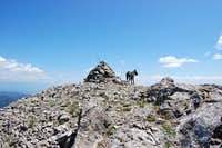 Cairn on Ross Peak Summit