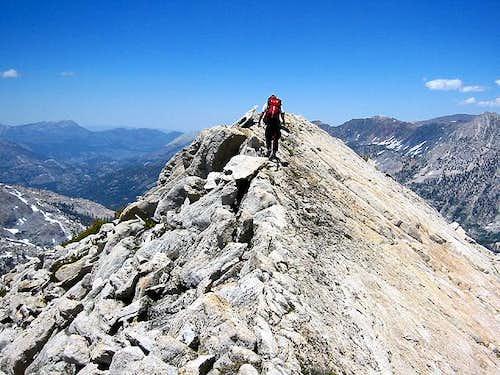 Loopdedo on the north ridge...