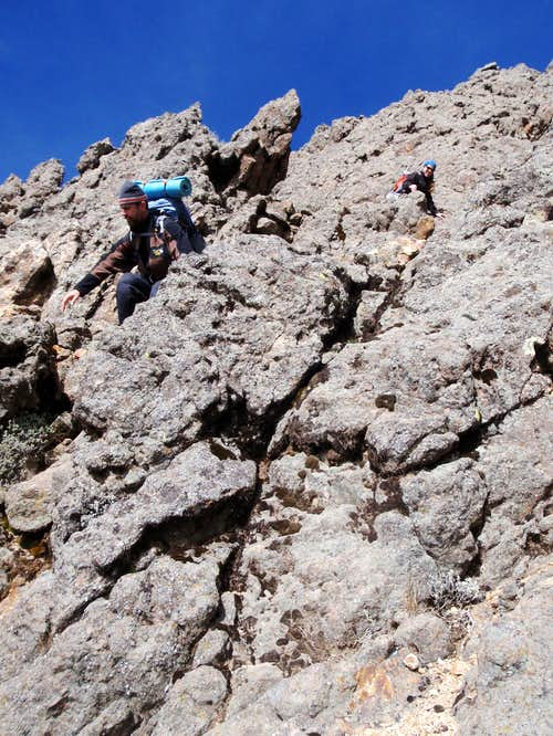 Scrambling on Iztaccihuatl