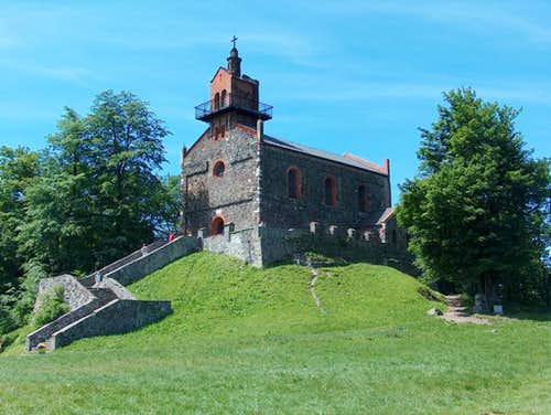 Top of Ślęza, the chapel