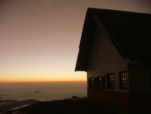 Sunset from Chimborazo. Ecuador.