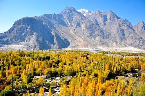 Shigar Valley Baltistan during Autumn