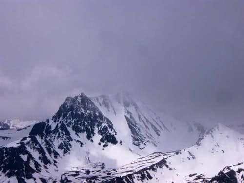 The north face of Imp peak...