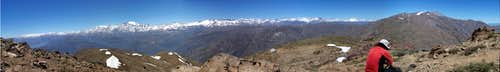 The panorama of the Andes from Cerro Provincia