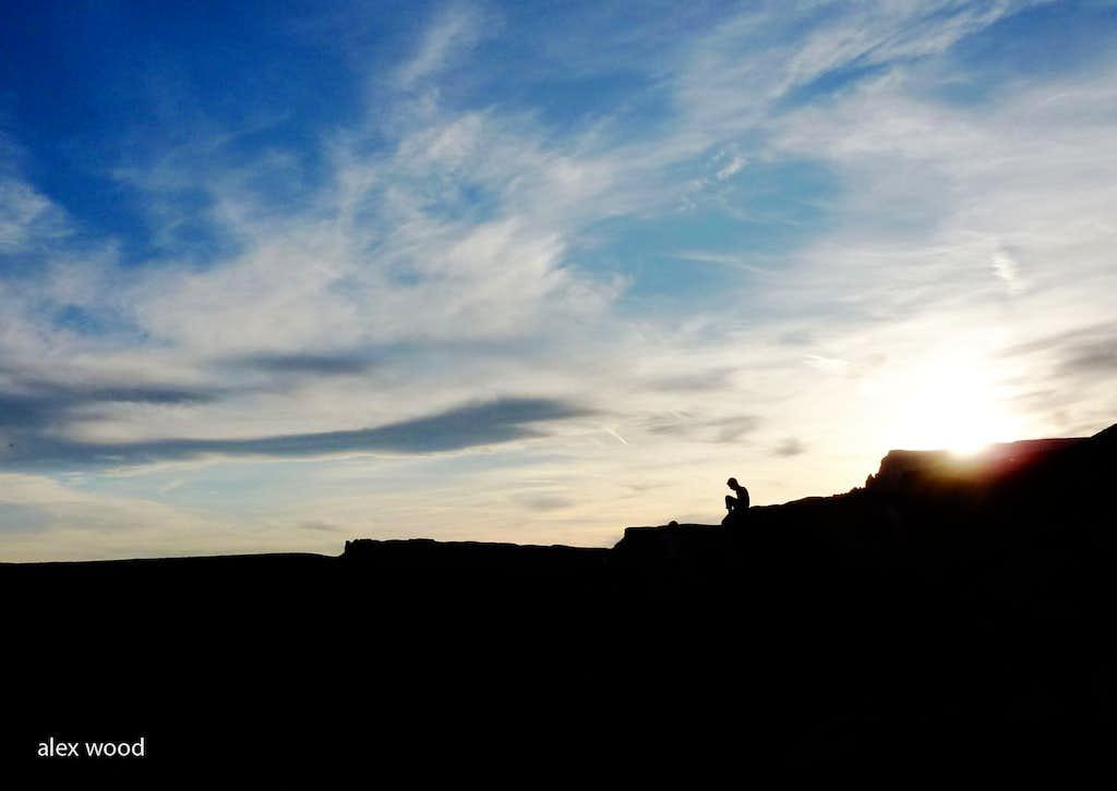 Last Light For Climbing