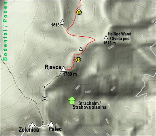 Rjautza/Rjavca and its paths