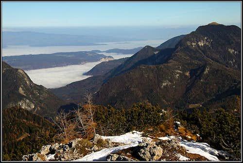 Drau/Drava valley from the summit of Rjautza/Rjavca
