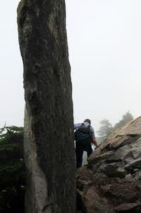 Large rock in Pilchuck Trail