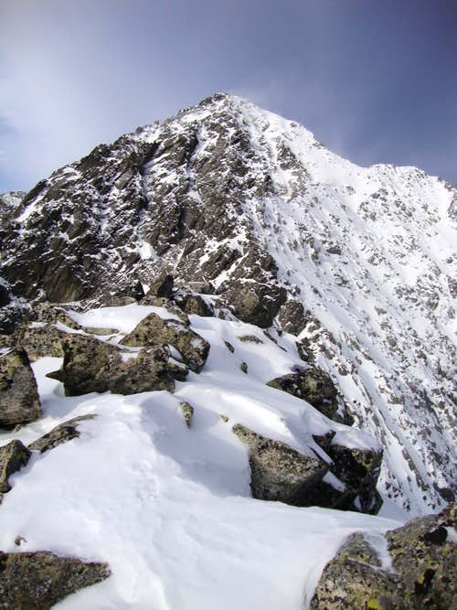 Kiezmarsky stit from the ridge of Huncovsky stit