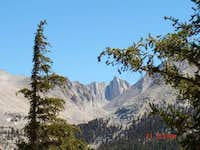 looking at Mt Whitney through the trees