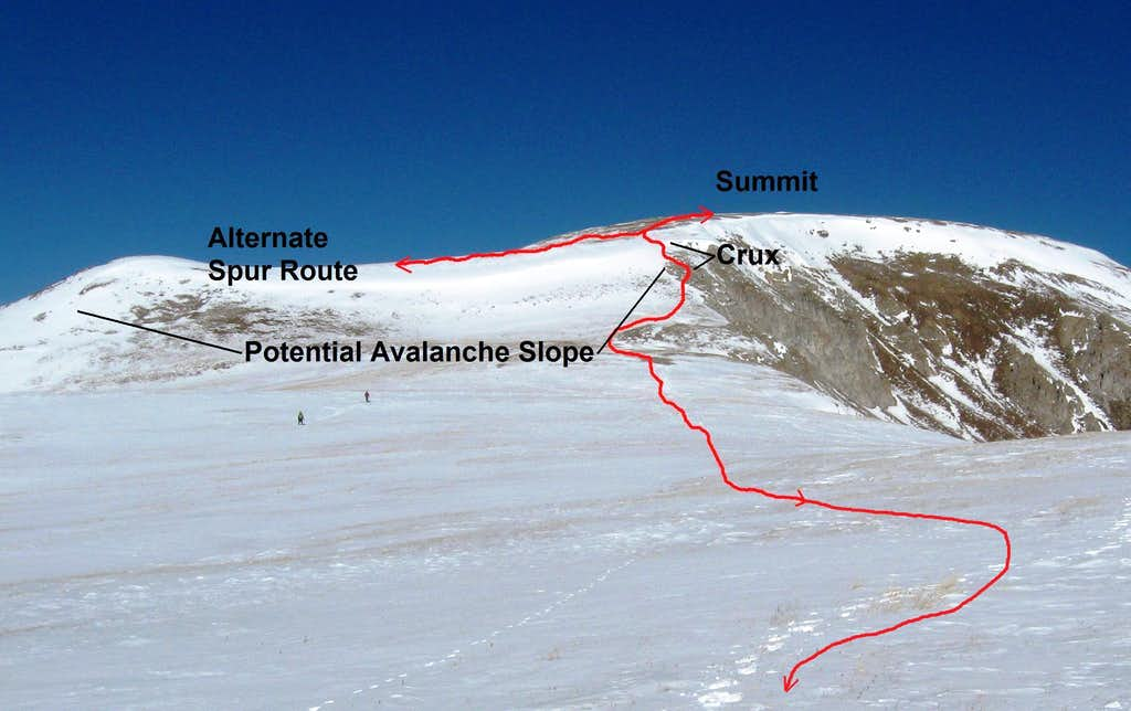Route on South Ridge