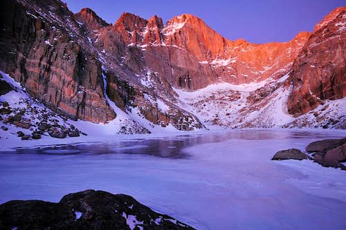 Longs Peak-Chasm Lake-Thanksgiving 2009