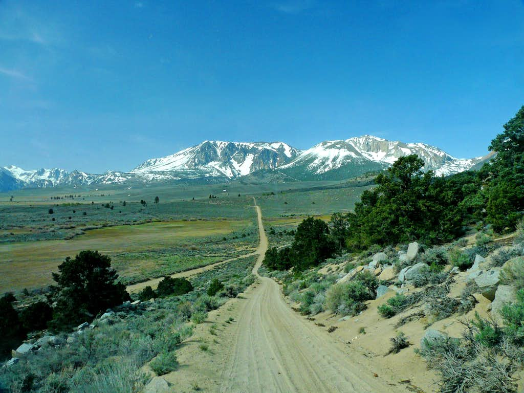 Dirt road going up the southeast slope of  Williams Butte