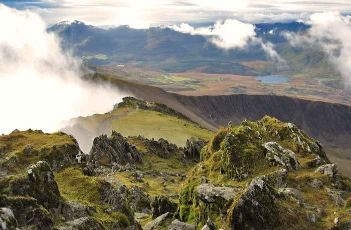 View SE from near the Summit of Snowdon