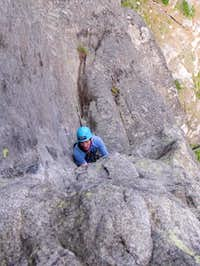Chris entering the lieback...