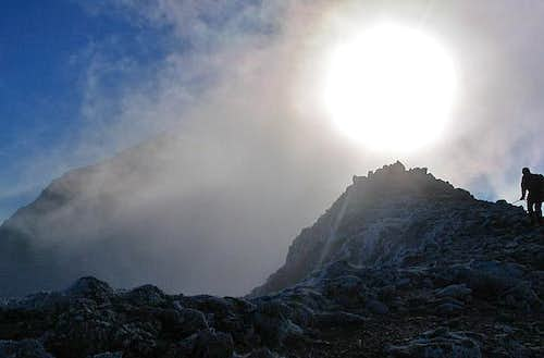 Trick of the light on Snowdon
