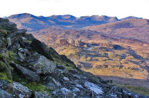 Nantlle Ridge seen from the Moelwyns