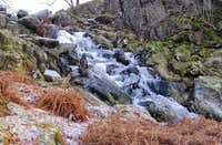 Frozen waterfall in the Moelwyns
