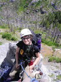 Natasha at belay