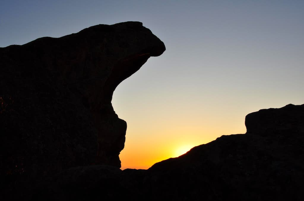 Lizard's Mouth at sunset
