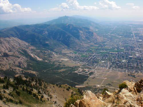 Ogden from Ben Lomond Peak