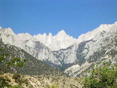 Mount Whitney from Lone Pine.