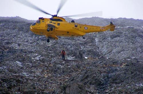 Mountain Rescue on Snowdon