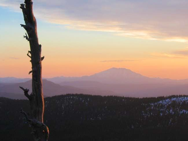 Mt. St. Helens at sunset,...