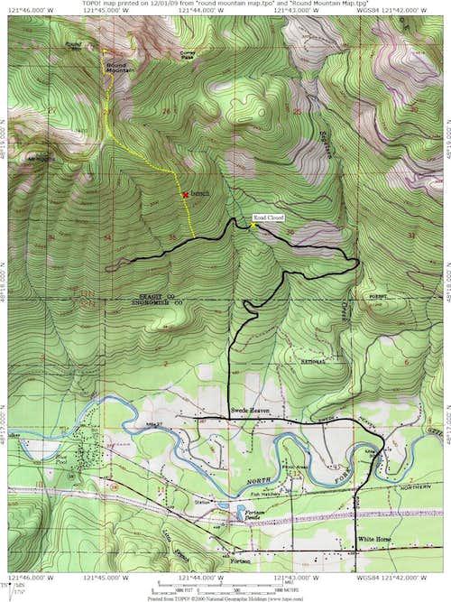 Round Mountain Winter route