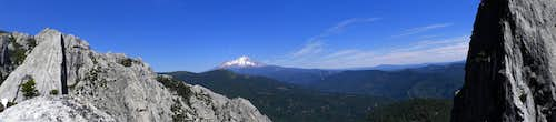 Mount Shasta Panorama from Castle Crags State Park