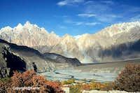 Passu Cathedral Peak 6106-M & Hunza River during Autumn