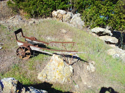 old wheelbarrow near mine