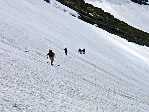 Crossing Swiftcurrent Glacier, #2
