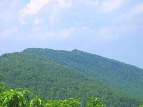 The summit of Moore\'s Knob...