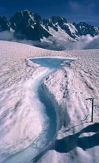Torrent Glacier and Aiguille...