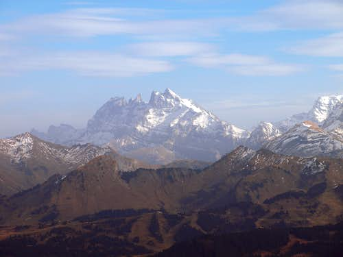 Dents Du Midi, from Pointe de Marcelly