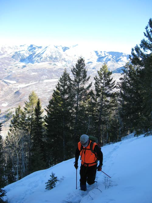 Ascending South Saddle