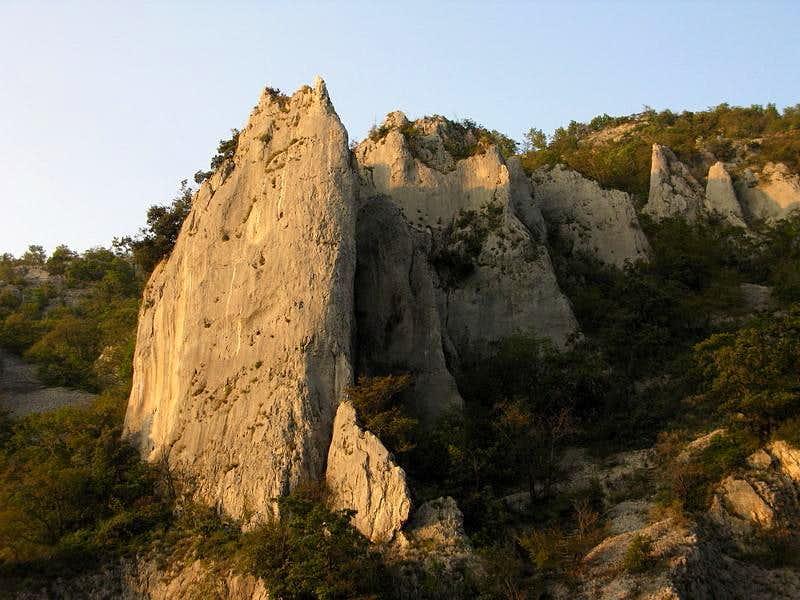 Climbing sector - Nad tunelom