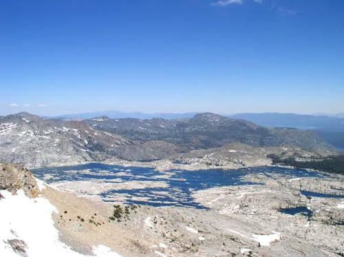 Lake Aloha from the summit of...