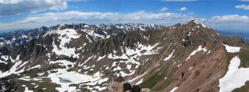 A panorama of the Gore Range...