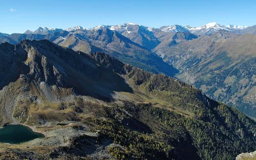The Gastein and Rauris mountains in the light of a beautiful morning in October