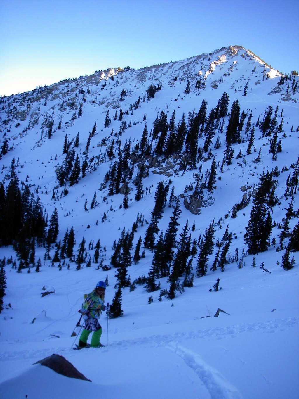 Troy skinning up to Catherines Pass