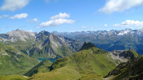 The Spullersee and the Verwall mountains