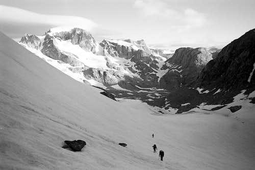 Gannett Peak from Elsie Col