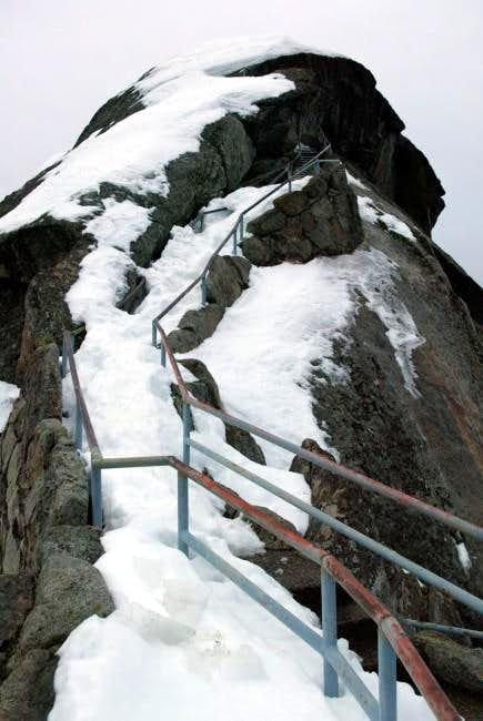 Snow and Ice Covered Stairs -...