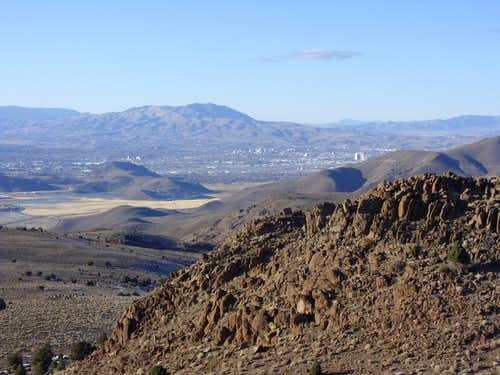 Looking towards Reno and Peavine Peak