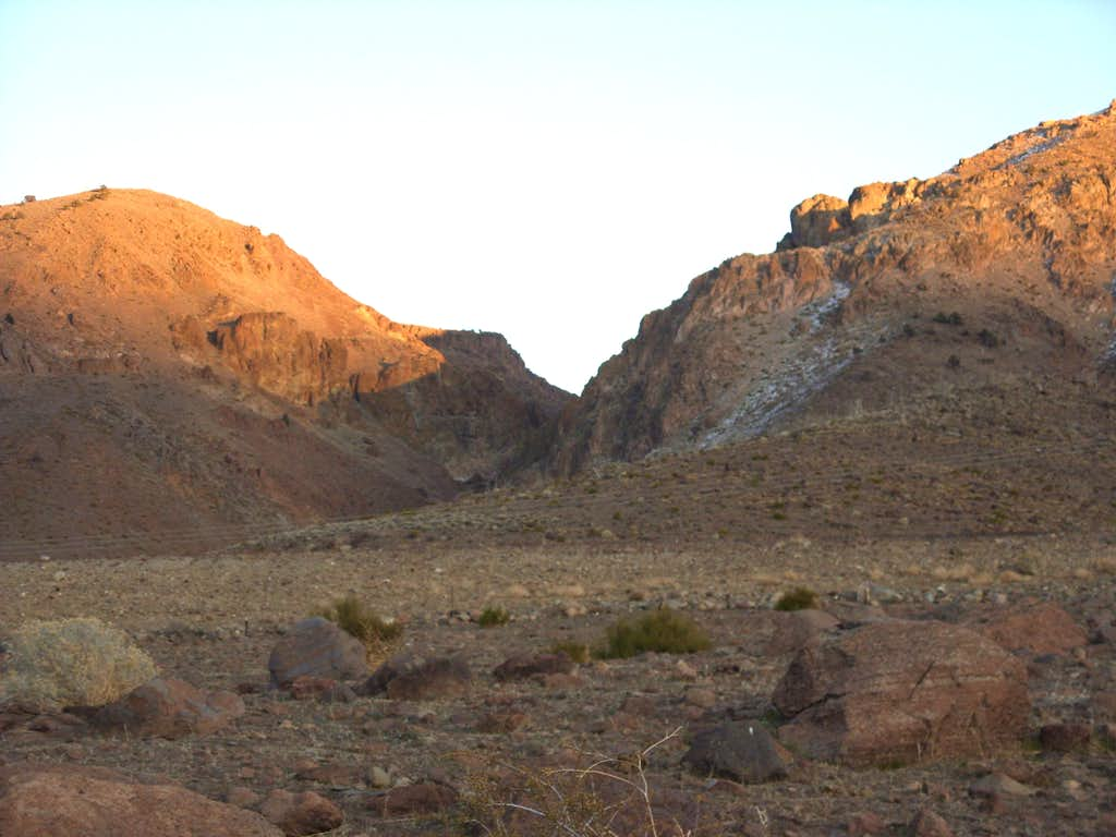 Looking back at the entrance to the canyon